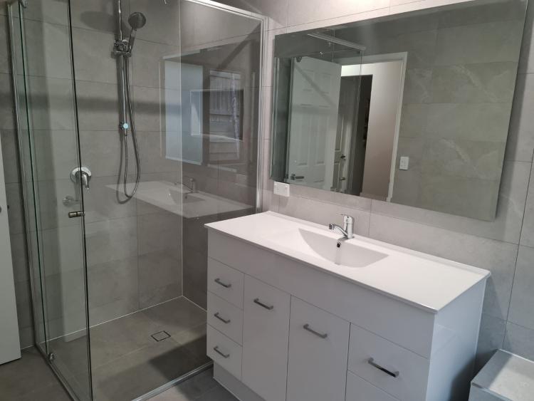 New vanity and mirror