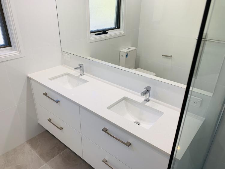 New white vanity